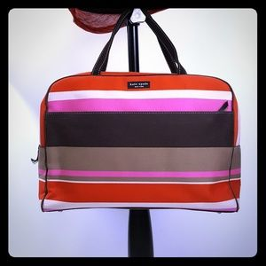 Kate Spade Luggage Stripe Shopper Tote